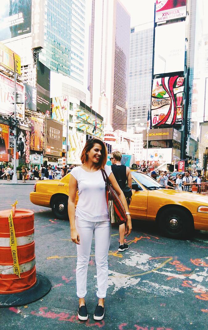 New York City | #RedhuxNYC | me at times sq long