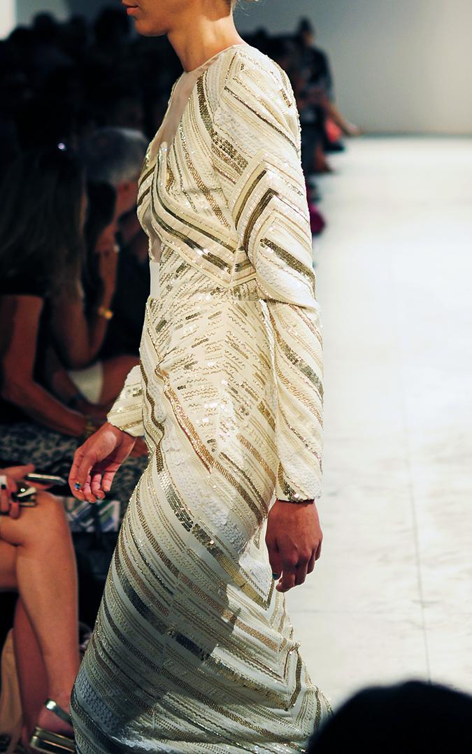 Bibhu Mohapatra | NYFW | Akanksha Redhu | cream sequins side