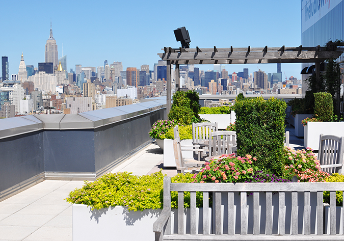 Airbnb | New York City | #RedhuxNYC | terrace towards 5th av