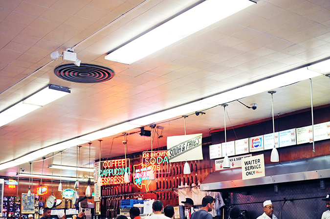 Katz's Delicatessen | #RedhuxNYC | counter tilted