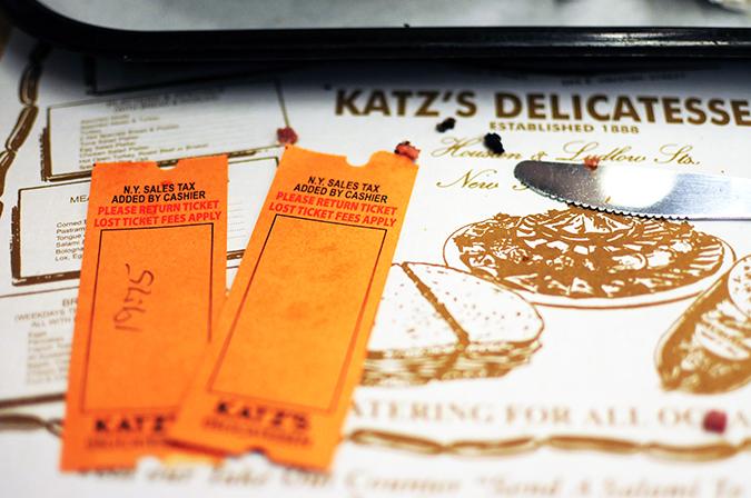 Katz's Delicatessen | #RedhuxNYC | tokens