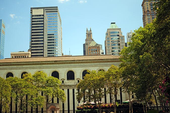 Bryant Park | New York City | #RedhuxNYC | view from sw