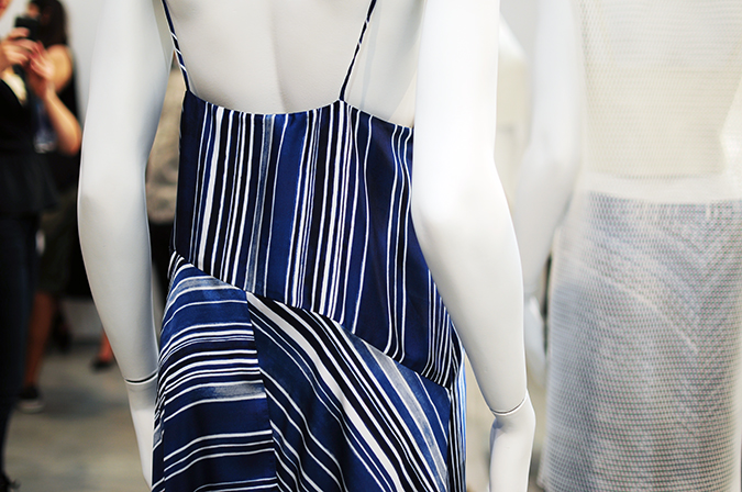 Tess Giberson | NYFW | #RedhuxNYC | striped dress back