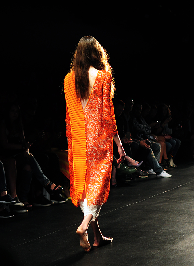 Francesca Liberatore | NYFW | #RedhuxNYC | orange lace back
