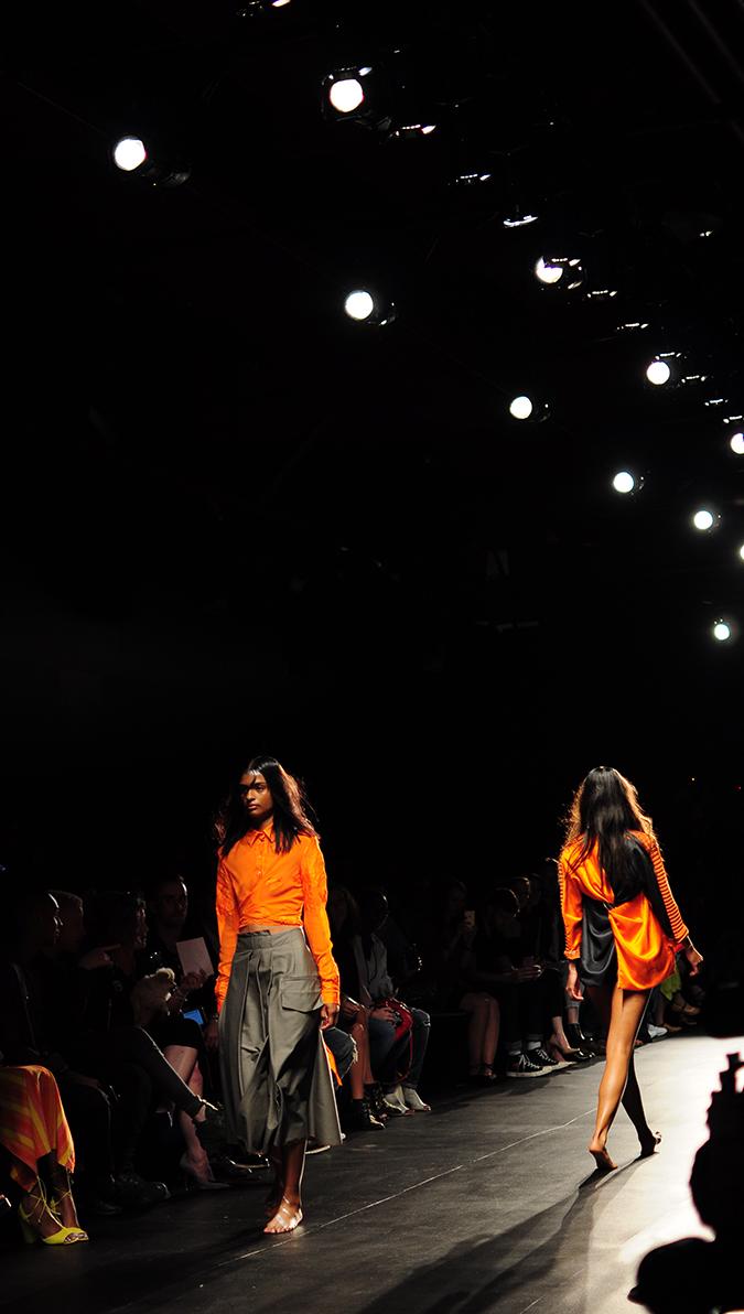 Francesca Liberatore | NYFW | #RedhuxNYC | two orange tall