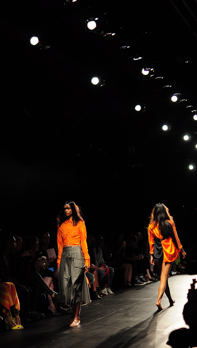 Francesca Liberatore | NYFW | #RedhuxNYC | two orange tall