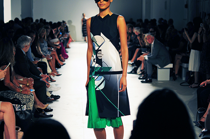 Bibhu Mohapatra | NYFW | Akanksha Redhu | green part dress
