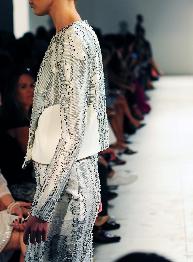 Bibhu Mohapatra | NYFW | Akanksha Redhu | texture silk jacket side