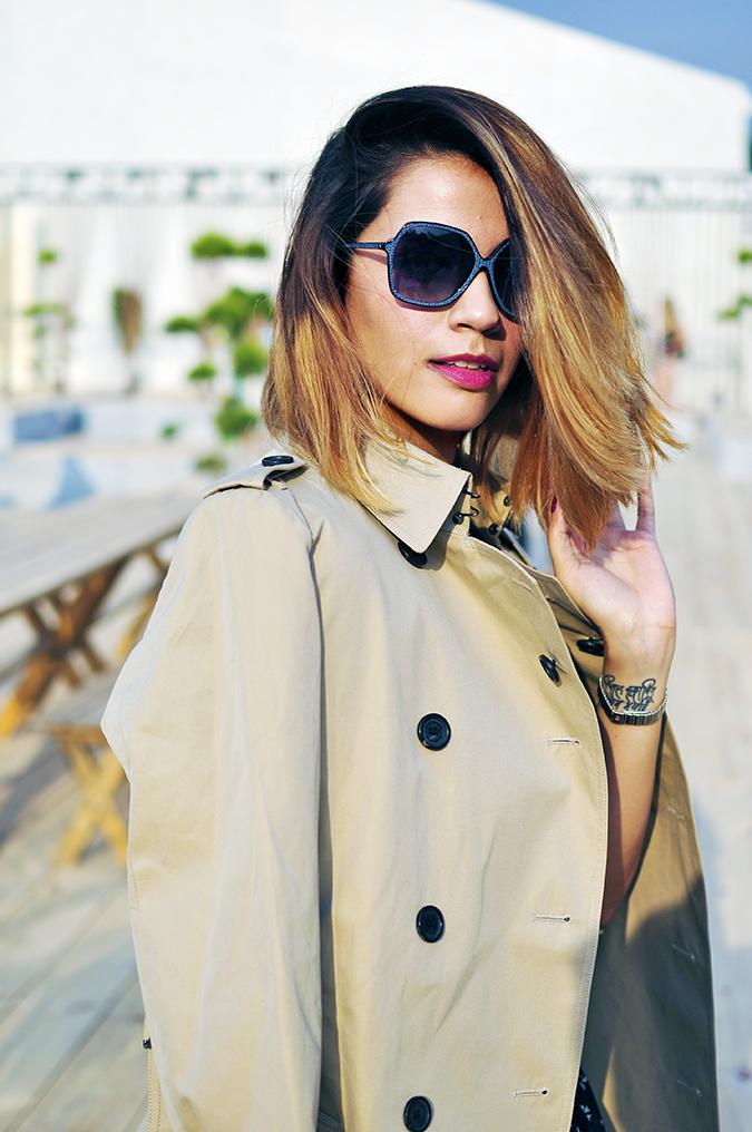 AIFW | Akanksha Redhu | #AIFWSS16 | Burberry | half front slight hair fly