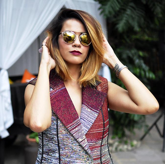 #AIFWSS16 | Dior | Akanksha Redhu | front half square arms up