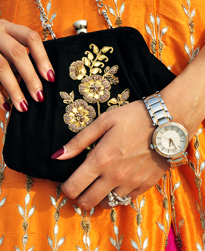 Anita Dongre | Akanksha Redhu | #ootd | watch with bag