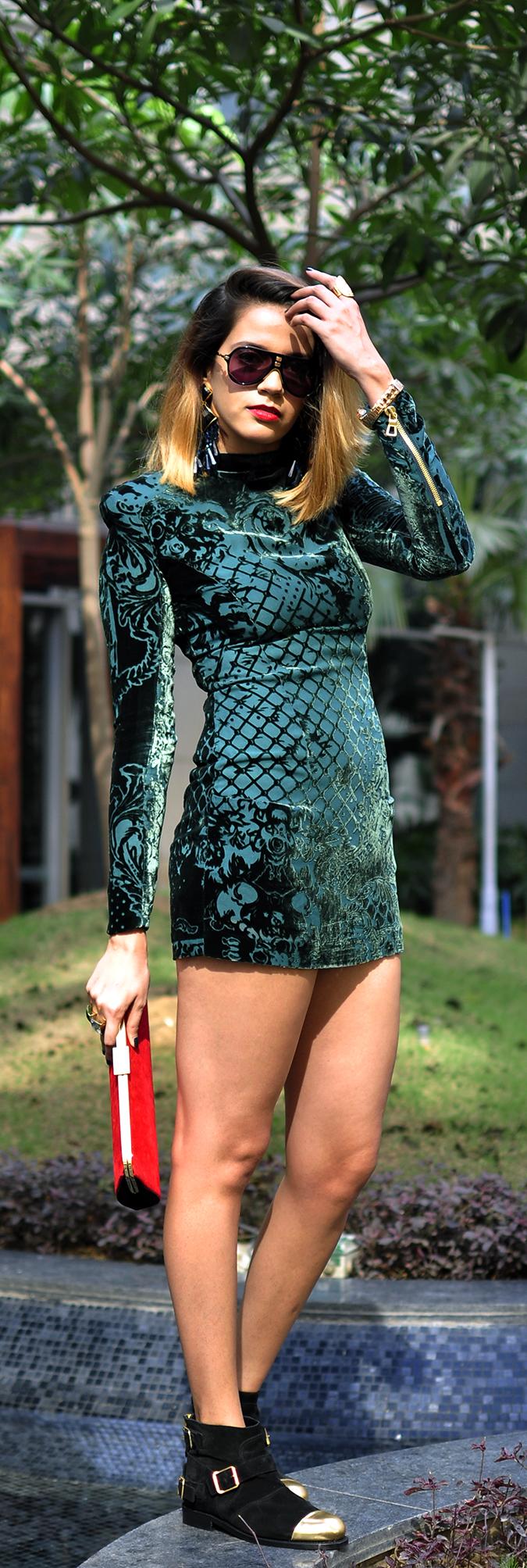Balmain x H&M | #HMBalmaination | Akanksha Redhu | full front dresslong
