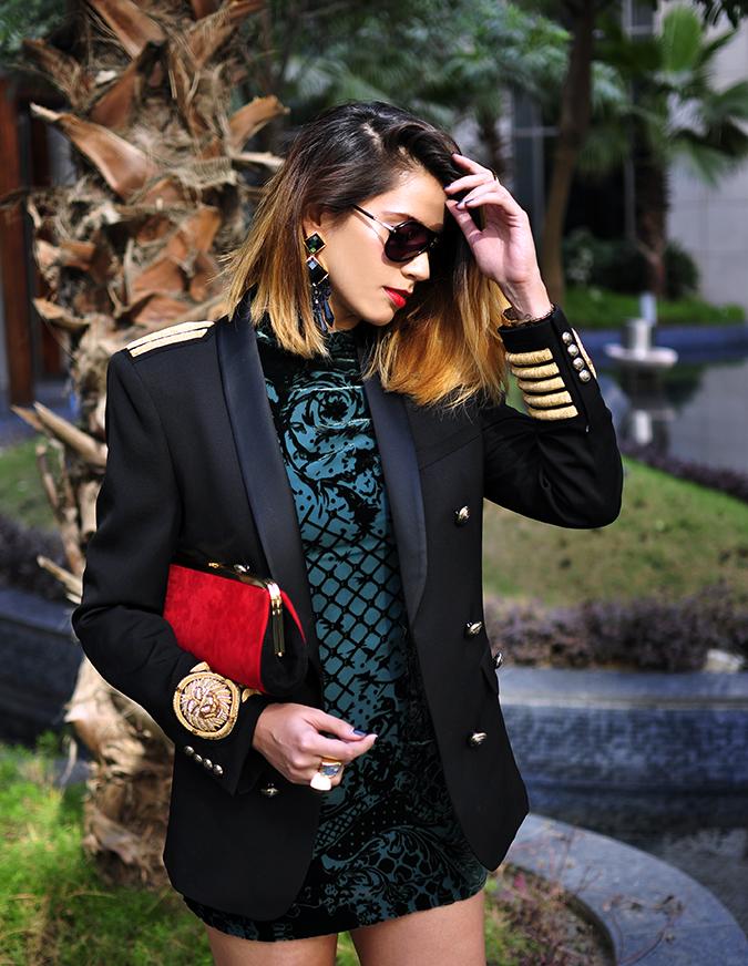 Balmain x H&M | #HMBalmaination | Akanksha Redhu | half front blazer