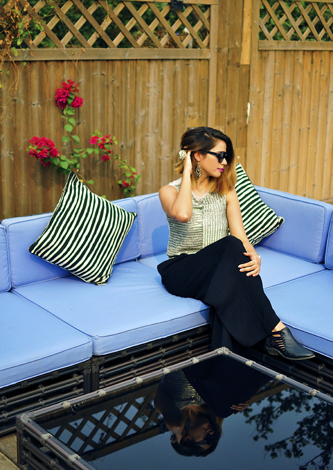 Vero Moda Marquee | Qutub | Akanksha Redhu | sitting on couch