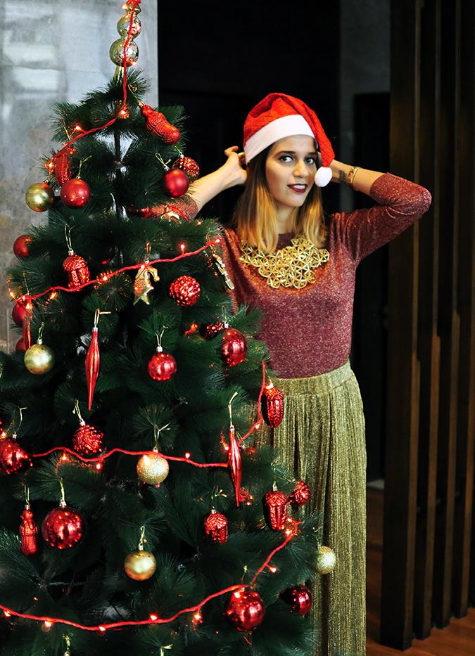 Christmas Cheer | Akanksha Redhu | tree wearing cap