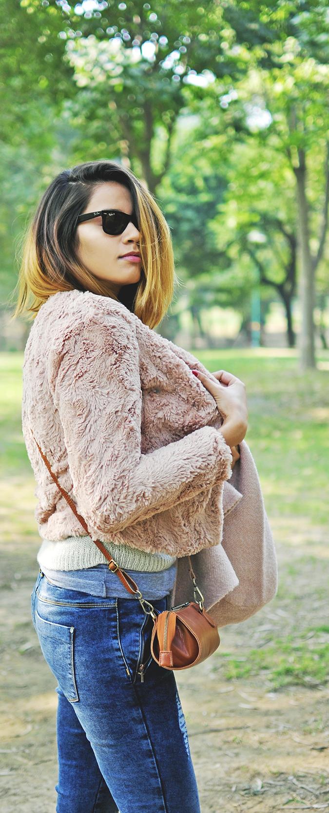 Warm n Fuzzy | Only India | Akanksha Redhu | furry half side long