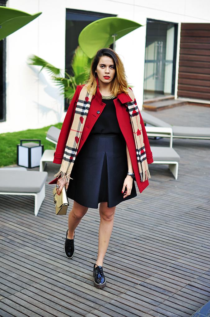Burberry Festive | Akanksha Redhu | full front coat