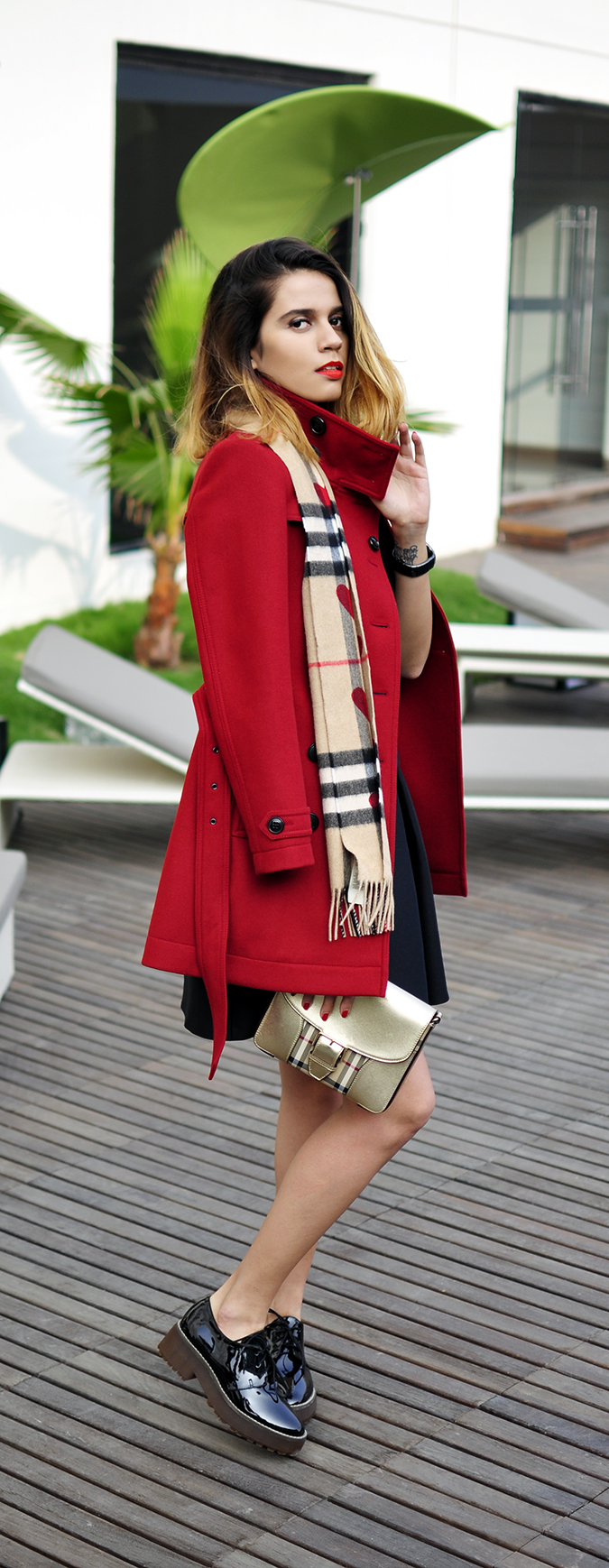 Burberry Festive | Akanksha Redhu | full side coat long