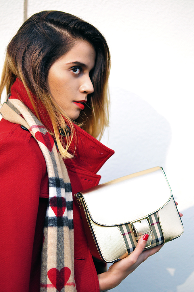 Burberry Festive | Akanksha Redhu | half side white wall