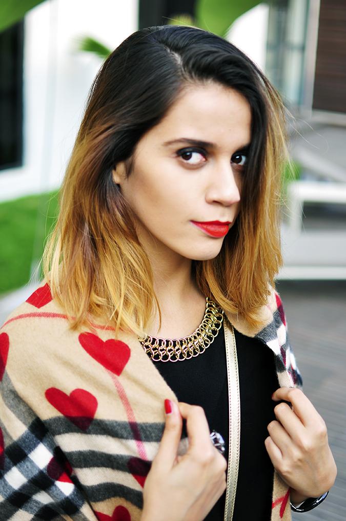 Burberry Festive | Akanksha Redhu | face scarf top
