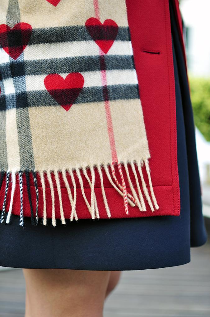Burberry Festive | Akanksha Redhu | scarf details