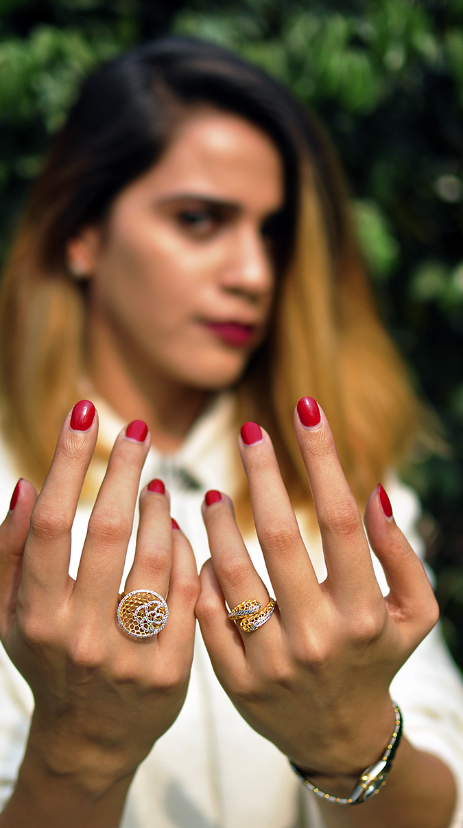 BeeJewelled - CaratLane | Akanksha Redhu | both hands front face blurred