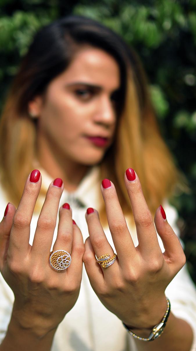 BeeJewelled - CaratLane | Akanksha Redhu | both hands front face blurred