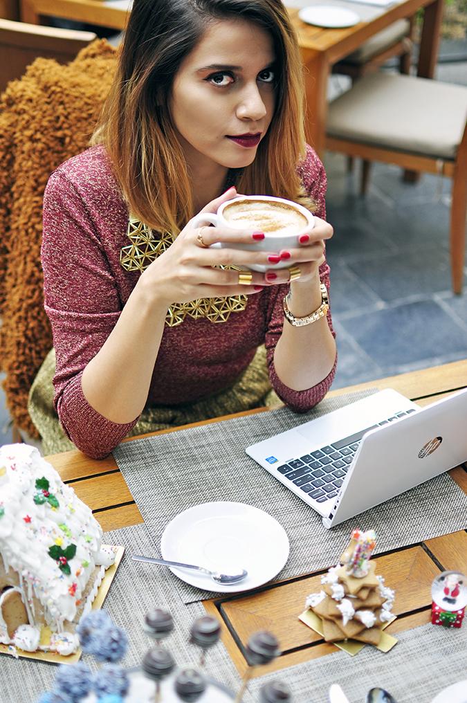 Christmas Cheer | Akanksha Redhu | upper angle coffee laptop