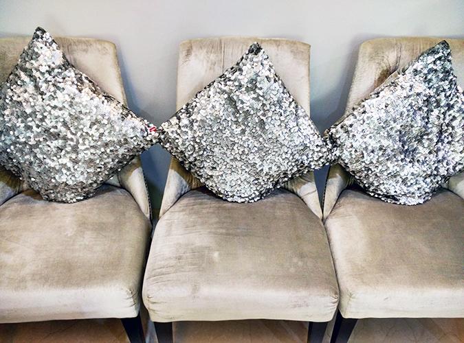 Beauty Edit Dec | Akanksha Redhu | Lumiere Dermatology sequin cushions