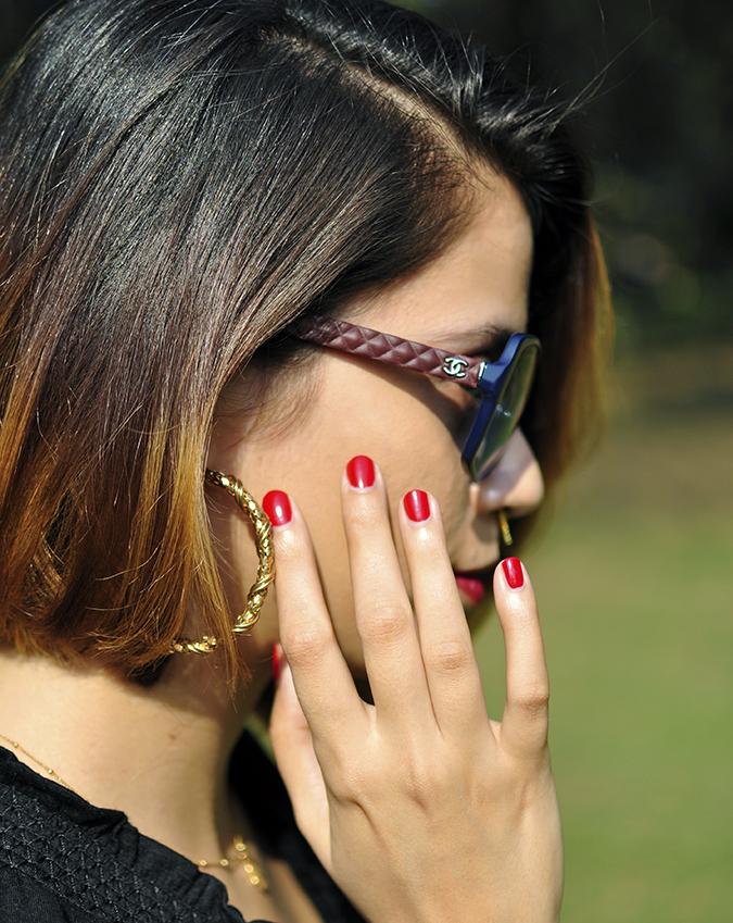 City Black | Sbuys | Akanksha Redhu | chanel & nails