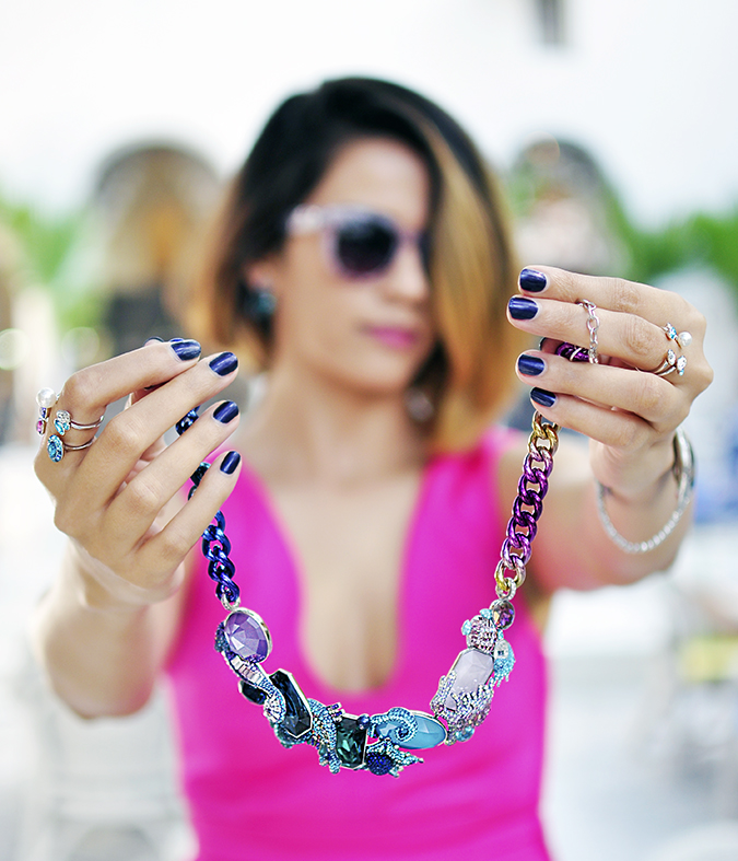 Sea of Sparkle - Swarovski | Akanksha Redhu | holding necklace focus