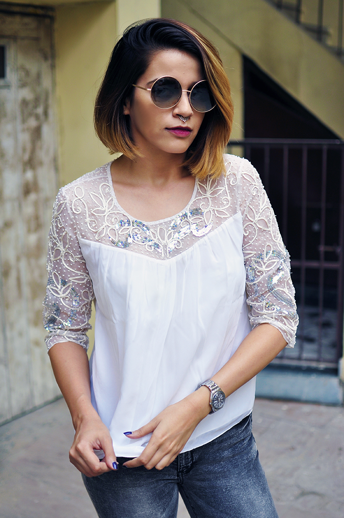 Ether | Akanksha Redhu | Fashion Blogger | half front pulling top