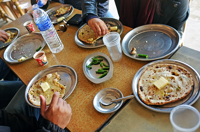 Akanksha Redhu | Travel India | parantha table
