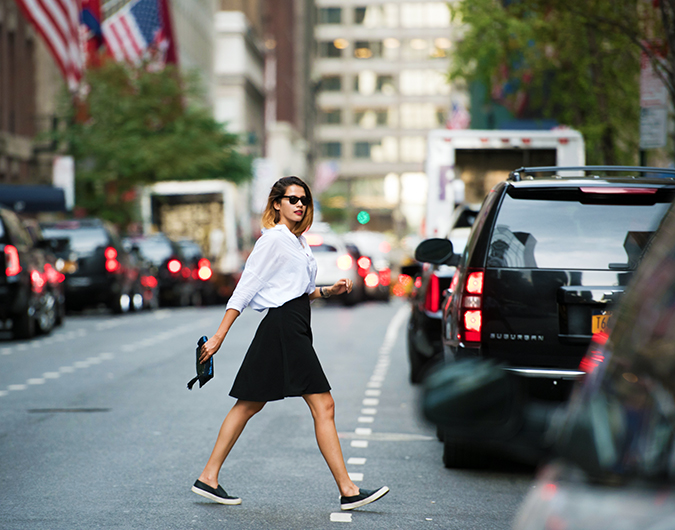 New York | Akanksha Redhu | #RedhuxNYC | crossing road close