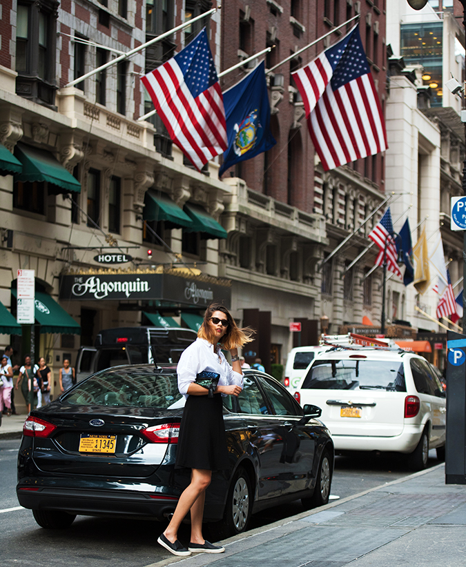 New York | Akanksha Redhu | #RedhuxNYC | full side with car