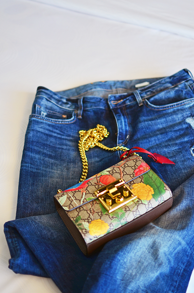 Gucci Tian | Akanksha Redhu | bag on jeans