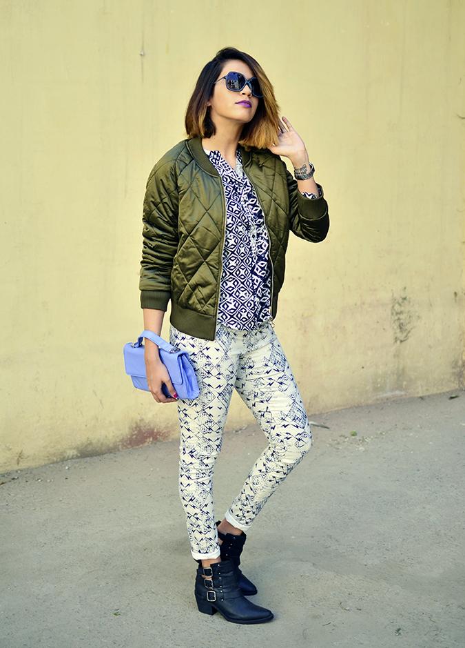 Print Life | Vero Moda | Akanksha Redhu | full front jacket bag