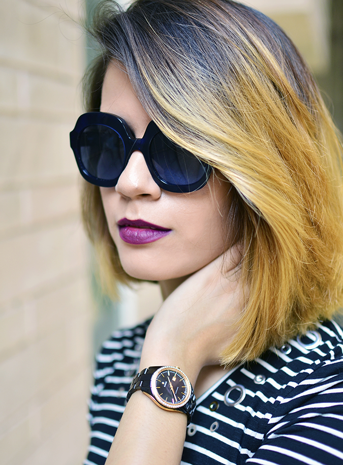 Stripes | Sbuys | Akanksha Redhu | hand on neck watch