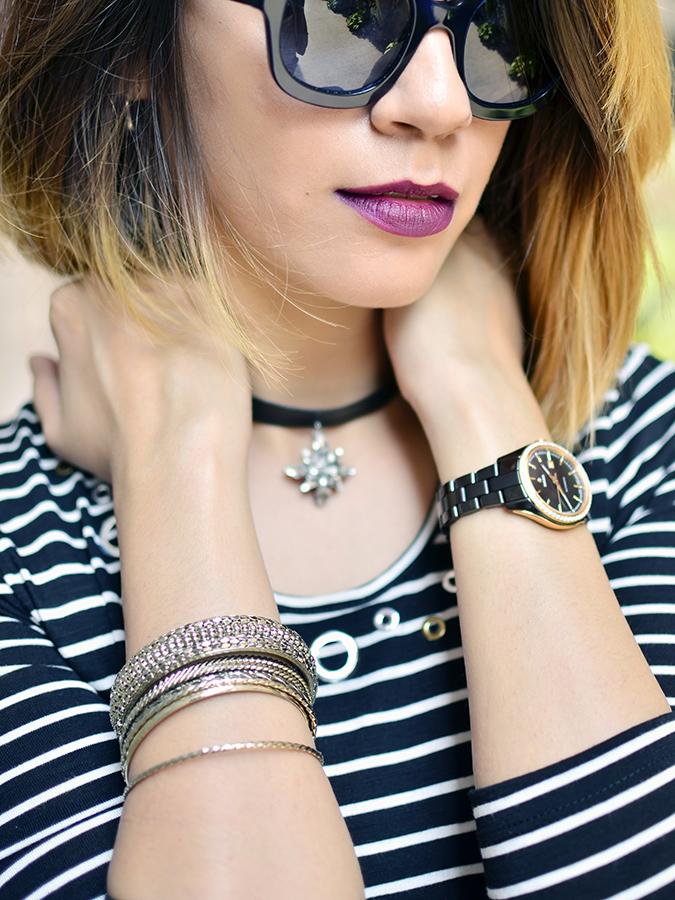 Stripes | Sbuys | Akanksha Redhu | both hands on neck lips