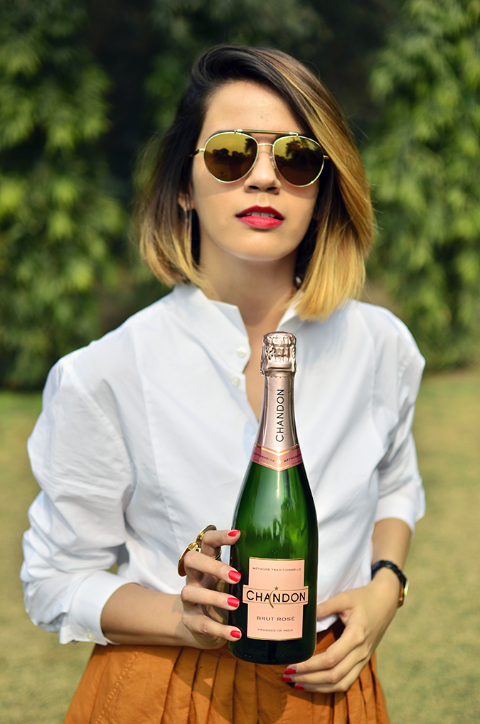 Valentine's Day Ready | Chandon India | Akanksha Redhu | half front holding bottle