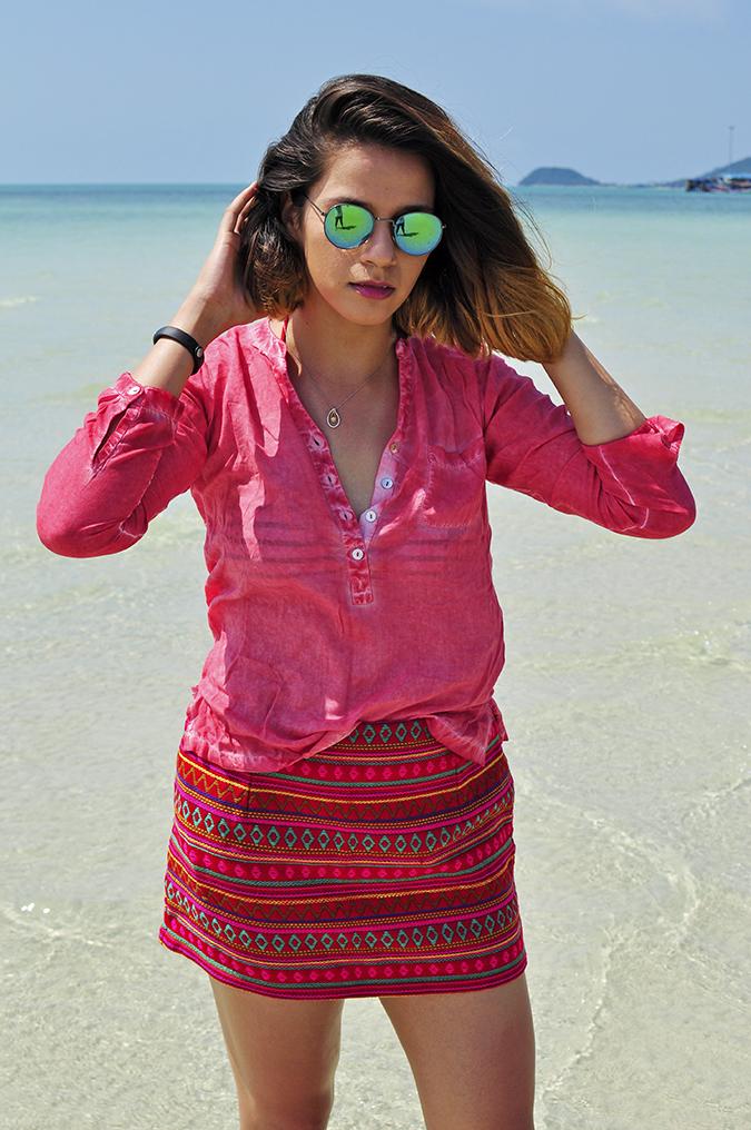 Coconut Beach   Koh Samui   Akanksha Redhu   #RedhuxKohSamui   half front sea both arms up