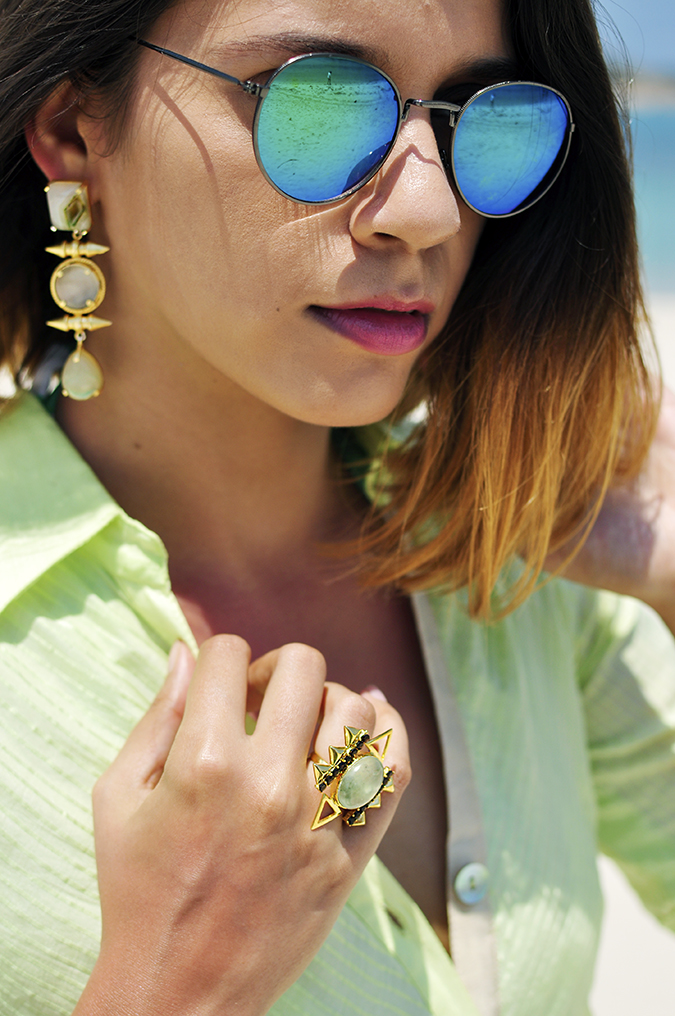 Chichouse | Choeng Mon Beach | Koh Samui | Akanksha Redhu | earrings ring sunglasses