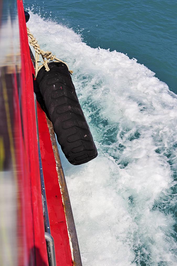 Ang Thong National Marine Park | Akanksha Redhu | boat tyre waves