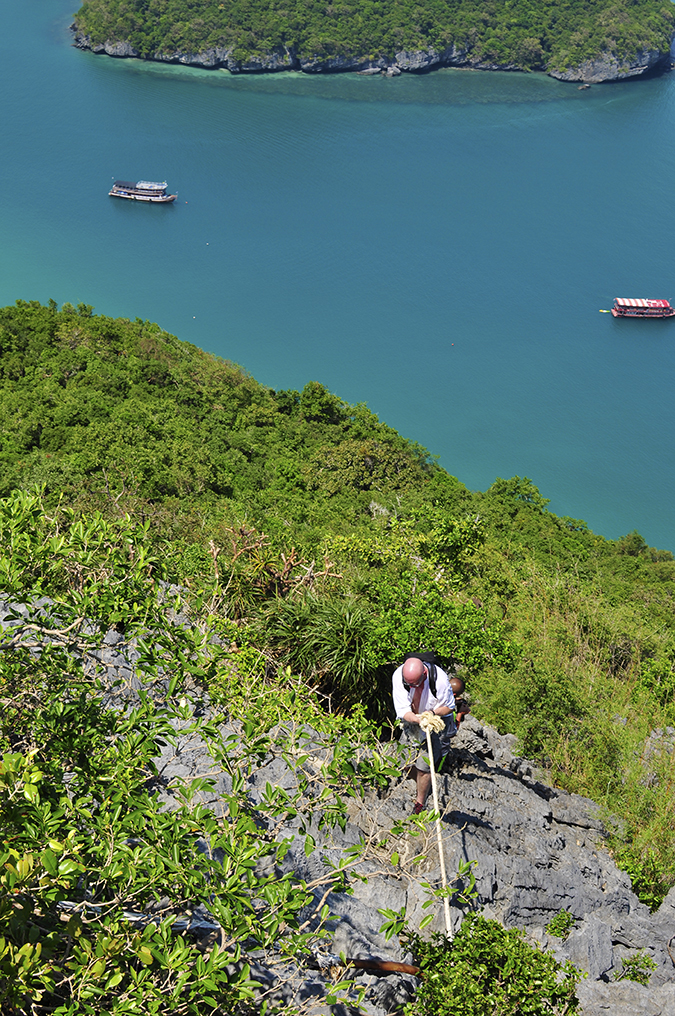 Ang Thong National Marine Park | Akanksha Redhu | oldie climbing down sun