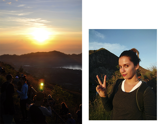 Mount Batur Sunrise Trek | Bali | Akanksha Redhu | combo with peace sign