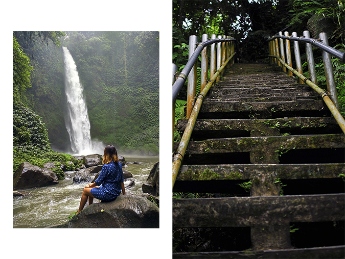Nungnung Waterfall   Bali   Akanksha Redhu   combo sitting stairs