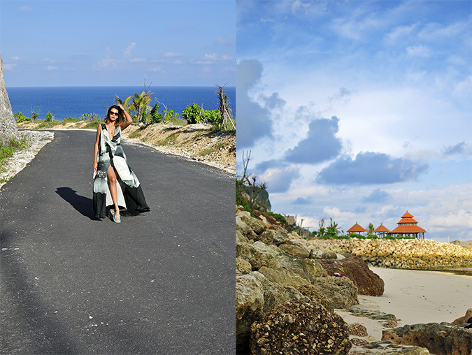 Pantai Melasti | Bali | Akanksha Redhu | combo full front road far and hut