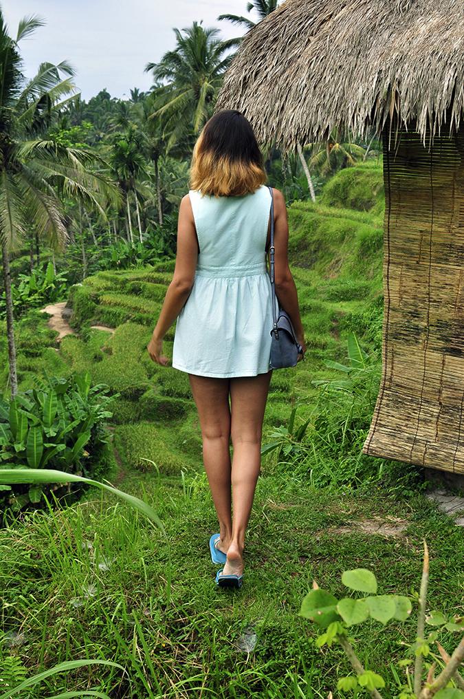 Tegalalang Rice Terraces - Ubud | Bali | Akanksha Redhu | full back hut