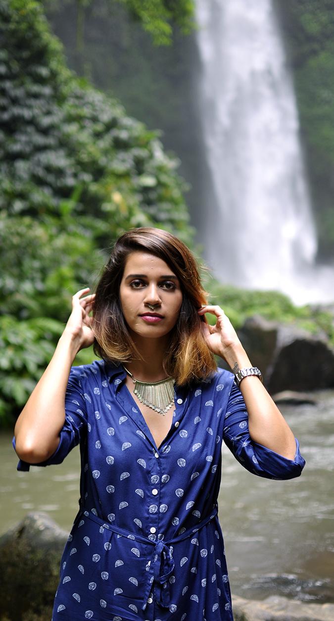 Nungnung Waterfall   Bali   Akanksha Redhu   half front waterfall