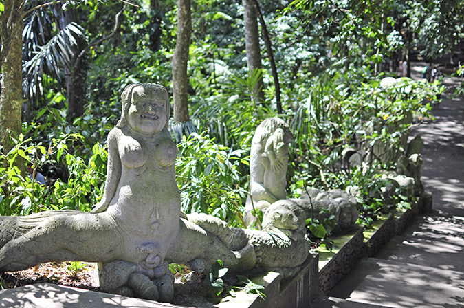 Sacred Monkey Forest Sanctuary - Ubud | Akanksha Redhu | leg split statue